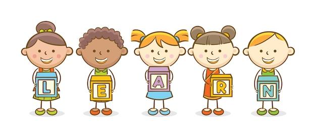 Dowiedz się blok alfabetu