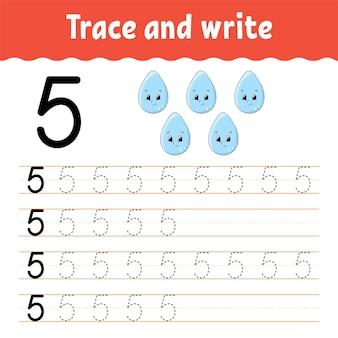 Dowiedz się liczby śledź i pisz