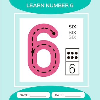 Dowiedz się numer 6 six. gra edukacyjna dla dzieci. gra liczenia.