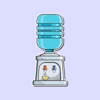 Dozownik i galony wody w stylu kreskówkowym