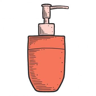 Dozownik mydła na białym tle