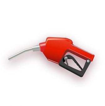 Dozownik paliwa w prostym stylu 3d. ilustracja na białym tle