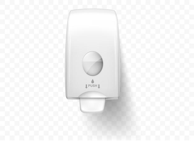 Dozowniki mydła w płynie, realistyczne na białym tle