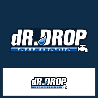 Dr drop text typo logo