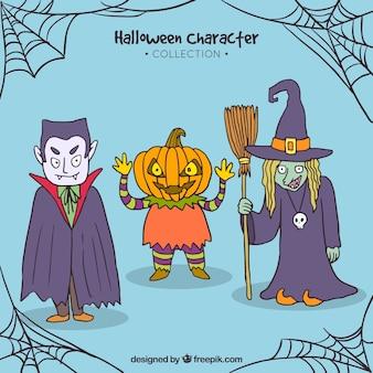 Dracula, jackolantern i czarownica