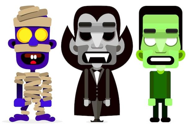 Dracula zestaw mumii i zombie potworów.