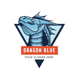 Dragon blue esport logo