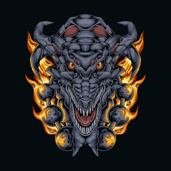 Dragon head fire ball