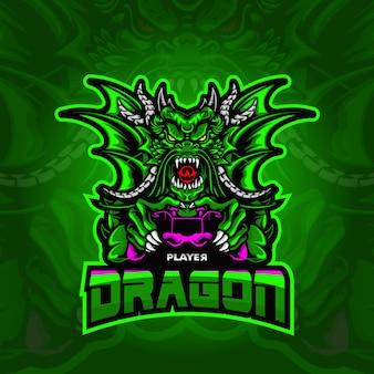 Dragon logo esport illustration