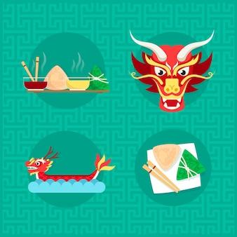 Dragon zongzi boat