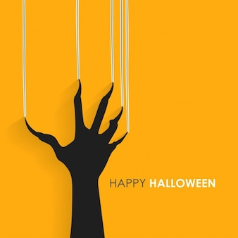 Drapanie znaki ręką na ścianie happy halloween