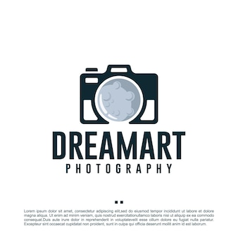 Dream art, aparat fotograficzny, fotografia, szablon projektu logo