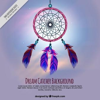 Dreamcatcher oniryczny tle
