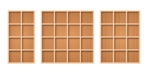 Drewniana półka na białym tle