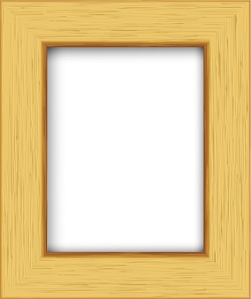 Drewniana prostokątna ramka na zdjęcia.