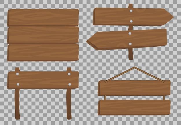 Drewniana realistyczna, sztandar ruchu ilustracja, deskowa tekstura