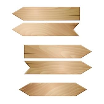 Drewniane deski na białym tle.