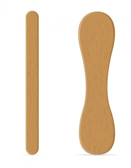 Drewniane kije do lodów ilustracji wektorowych