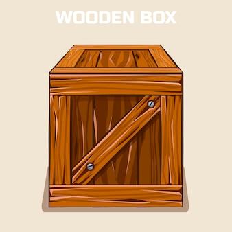 Drewniane pudełko clipart, element gry