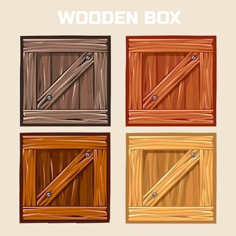 Drewniane pudełko, element gry