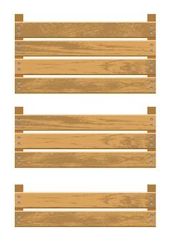 Drewniane pudełko na warzywa ilustracji