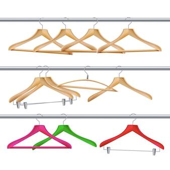 Drewniane wieszaki na ubrania