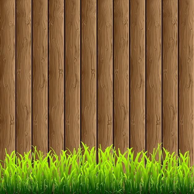 Drewniane z trawiastą dolną krawędzią