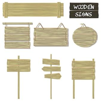Drewniane znaki