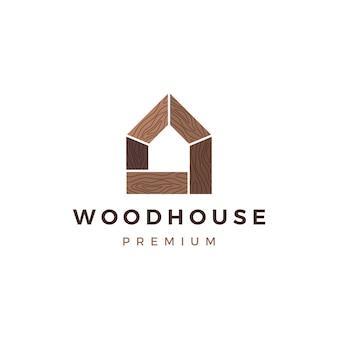 Drewnianego domu szalunku panelu ściany fasadowy decking wpc winylowy hpl loga ikony ilustracja