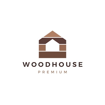 Drewnianego domu szalunku panelu ściany fasadowy decking wpc winylowy hpl logo ikony ilustracja