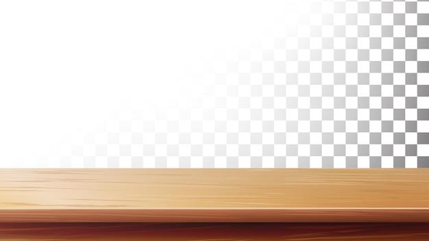Drewniany blat. pusty stojak do wystawienia produktu