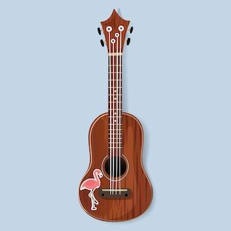 Drewniany instrument muzyczny do gitary