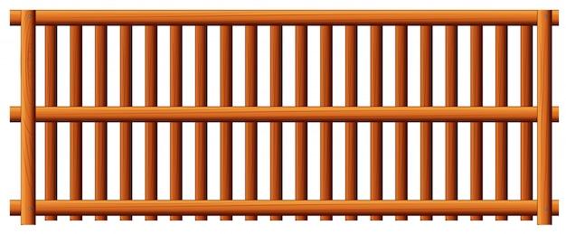 Drewniany płot