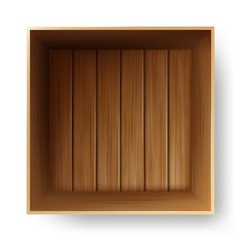 Drewniany pojemnik do transportu