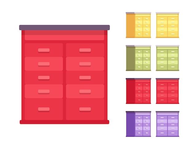 Drewniany zestaw szuflad