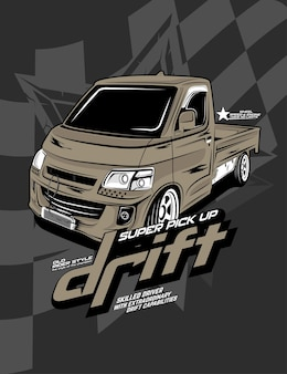Drift pick up, niestandardowy samochód do driftu