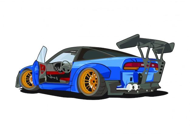Drift samochodu ilustracji