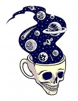 Drink z wszechświata ilustracji