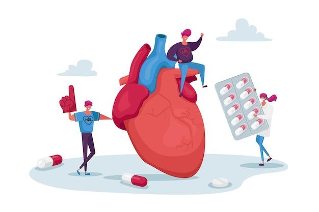 Drobne postacie przy dużym stężeniu cholesterolu w sercu