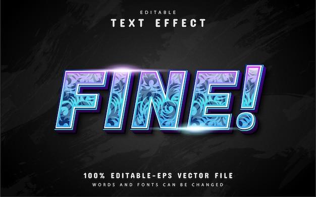Drobny efekt tekstowy ze wzorem