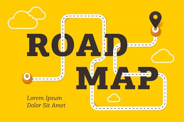 Drogowej mapy biznesowy pojęcie z krętą drogą