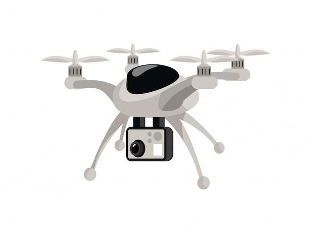 Drone płaski kolor