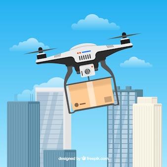 Drone płaskie i budynki