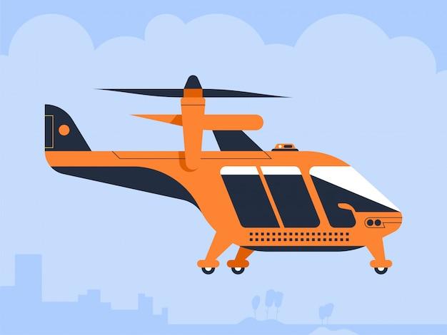 Drone taksówki powietrznej quadcopter pasażerski latający pojazd