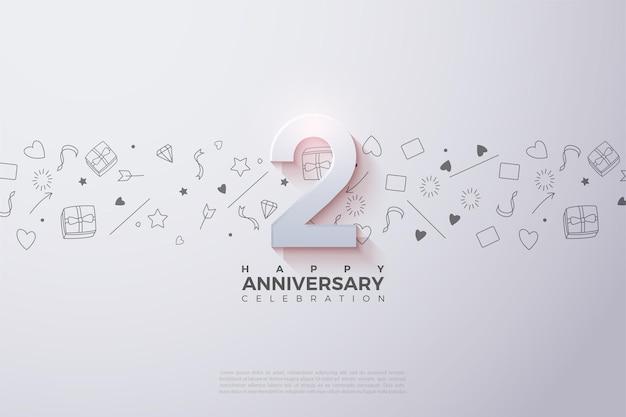 Druga rocznica z wyblakłą ilustracją numeru.