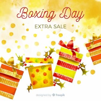 Drugi dzień świąt bożego narodzenia sprzedaż tło