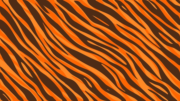 Druk futra tygrysa