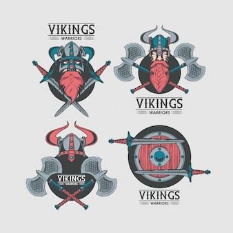 Drukowane koszulki wojowników wikingów