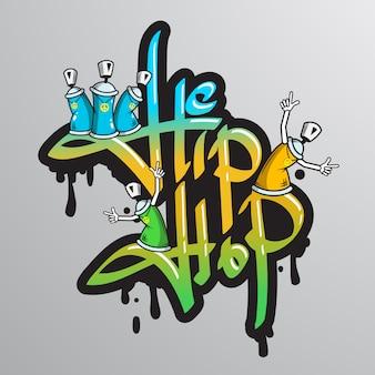 Drukowane są znaki słowne graffiti