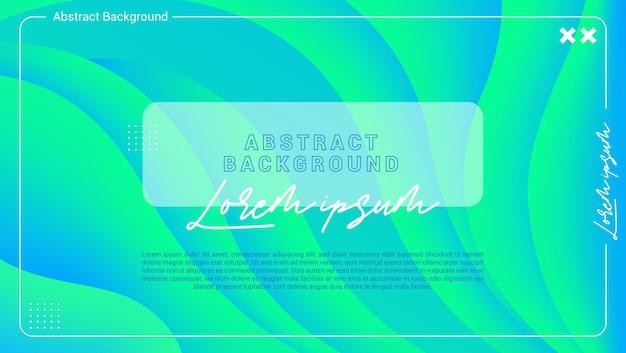 Drukuj kolorowe gradientowe faliste abstrakcyjne tło
